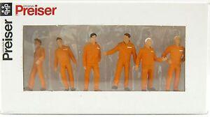 Preiser 68212 Various Mechanics Construction Industrial Mining Orange 1:50