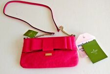 Kate Spade Charm City Ostrich solid desertrose leather cross body bag