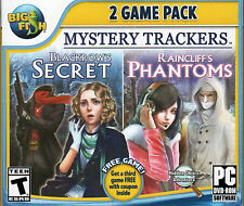 Mystery Trackers BLACKROW'S SECRET + RAINCLIFF'S PHANTOMS Hidden Object PC NEW