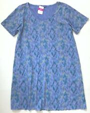 FRESH PRODUCE 3X Peri Blue SUNSET SKY ALLURE Jersey Tee Shirt Dress NWT New 3X