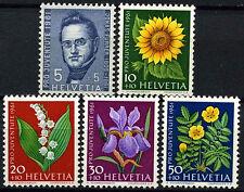 Svizzera 1961 SG#J187-J191 PRO JUVENTUTE FIORI Gomma integra, non linguellato Set #D45698