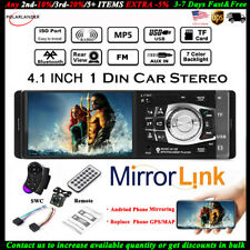 1 Din 4.1''Car Radio+Camera Bluetooth AUX/USB/FM MP5 Player Stereo Wheel Control