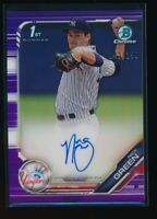 NICK GREEN AUTO 2019 Bowman Chrome Prospects Autograph PURPLE REFRACTOR #/250 RC