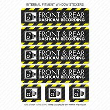 7 x Dash Cam Recording Stickers CCTV In Car Camera - Window Sticker - UV3095