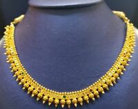 22k Yellow Gold Necklace Chain Indian Tribal Gold Jewelry Fabulous design work