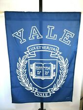New Yale University Banner 27X37 With Pole And Hanging Twine