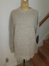 DSQUARED 2 MEN'S PULLOVER KNIT SWEATER ELBOW PATCHES ALPACA BLEND SIZE XXL 2XL