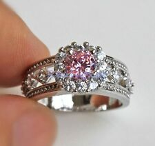18KT Amethyst Mystical PINK WGF Ring Size 8 (R1000-RED)