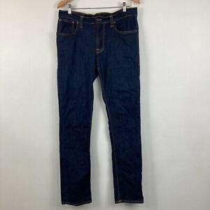 Nudie Jeans Co Unisex Jeans Size 36 Slim Fit Blue Denim Straight Zip Hemmed