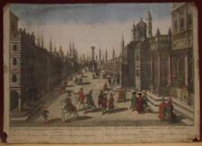 ISTANBUL HAGIA SOPHIA TURKEY 1750 PROBST UNUSUAL ANTIQUE ENGRAVED OPTICAL VIEW