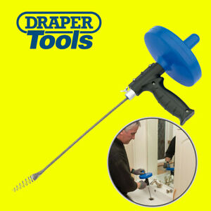 Draper 7.6M Drain Unblocker Flexible Rod Auger Snake Pipe Cleaner Plumbing Tool