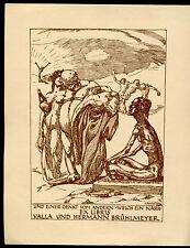 EXLIBRIS,070,M.Reichel - Welch ein Narr ....1919 -Erotic