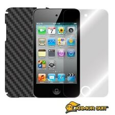 ArmorSuit MilitaryShield Apple iPod Touch 4G Screen + Black Carbon Fiber Skin!