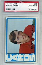 1972 Topps Football #59 - Roger Wehrli - PSA Graded 8 - Cardinals (Box DP)