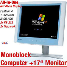 "43cm 17"" ADVANTECH poc-174 Monoblock All-in-One Computer HDD 80gb 1,2gb rs-232"