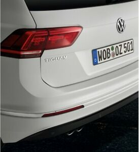 Genuine Volkswagen Tiguan 2016 > 2020 Rear bumper protector, transparent