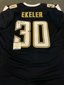 L.A. CHARGERS AUSTIN EKELER AUTOGRAPHED SIGNED JERSEY BECKETT COA