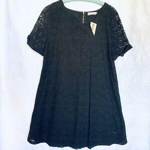 Brand New With Tags Boho Australia Black Lace Dress Size L