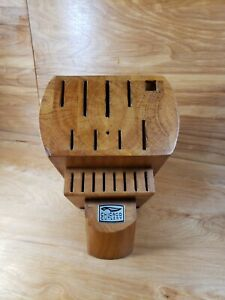 Chicago Cutlery 16 Slot Solid Wood Knife Block Holder Storage BLOCK ONLY