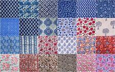 Indian Handmade Natural Hand Block Printed By The Yard Sanganeri Cotton Fabric