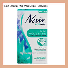 Nair Easiwax Mini Wax Strip 20 Strips For face Sensitive Areas Chamomile Extract