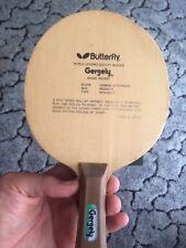 Butterfly Gergely Tischtennis Holz mit Metallschmetterling Rarität