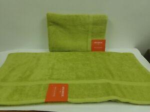"Two (2) Opalhouse Perfectly Soft Bath Sheet (Towel) - Green - 33"" x 63"""