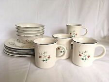 Pfaltzgraff Winterberry 16 Pc. Service for 4 Dinner Plate Bowl Cup Set