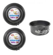 2 x Childrens Mini 12.5cm 5 Inch Non Stick Springform Round Cake Tin Baking Tin