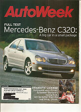 Autoweek Apr 23, 2001 - Mercedes Benz C320 - Driven Sylvester Stallone