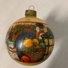 Vintage 1979 Hallmark Christmas Ornament with Homey Decorations