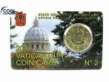 *** 50 cent VATICANO 2011 in Coincard euro moneta Vaticano Coin-Card n. 2 KMS ***