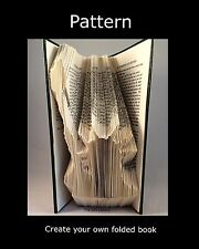 Book Folding PAttern to create your own folded book art Statue of Liberty