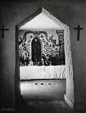 1928/63 Vintage PENITENTE Church Interior New Mexico Photo Art ANSEL ADAMS 16x20