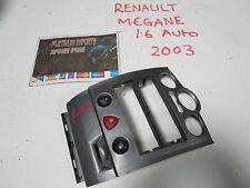 Renault megane 2002-2008 stereo surround console unit switch hazard