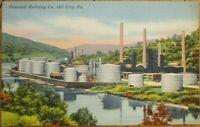 Oil City, PA 1940s Linen Postcard: Pennzoil Refining Co. - Pennsylvania Penn