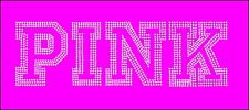 Pink Logo Inspired Fan Art Rhinestone Iron On Transfer Hot Fix Bling