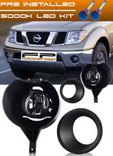 For 2005-2016 Nissan Frontier With Metal Chrome Bumper Fog Lights Full Kit + LED