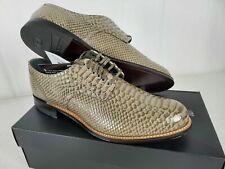 Stacy Adams Men Madison Gray Anaconda Snake Print Dress Oxford Club Lace Shoe 10