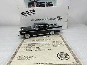 1/24 Danbury Mint 1957  Chevrolet Bel Air Sport Coupe Black