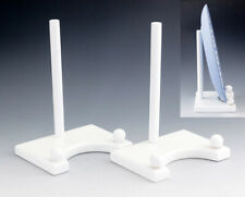 Lovely set of two white wooden plate holders