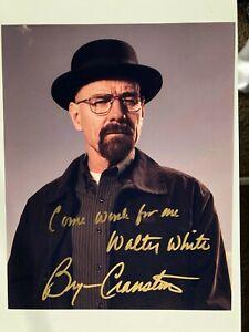 Bryan Cranston Signed Breaking Bad Photo Walter White Inscribed