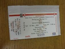 13/11/2004 Ticket: Rotherham United v Wolverhampton Wanderers (Sponsors Box, Com