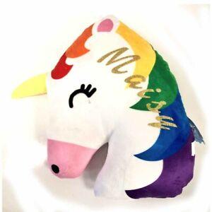 Personalsied Unicorn Head Cushion | Unicorn Gift | Personalised