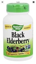 Nature's Way Black Elderberry 100 Caps FAST 1 Class SHIPPING 30% Off