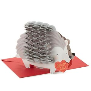 Love You Lots Hedgehog Honeycomb 3D Pop-Up Valentine's Day Card