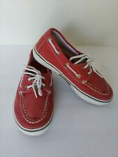 Sperry Top Sider Halyard Boat Deck Shoes Red Youth Boys size 13 M Kids