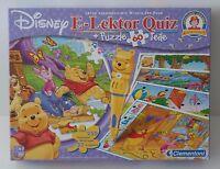 Clementoni Disney E-Lektor Quiz + Puzzle Winnie Pooh - komplett - Neuwertig