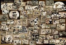 Tenyo Mickey Mouse Monochrome Black and White Film Movie Jigsaw Puzzle 1000