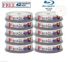 100 Pack SmartBuy Blu-ray BD-R BDR DL Dual Layer 6X 50GB Inkjet Printable Disc